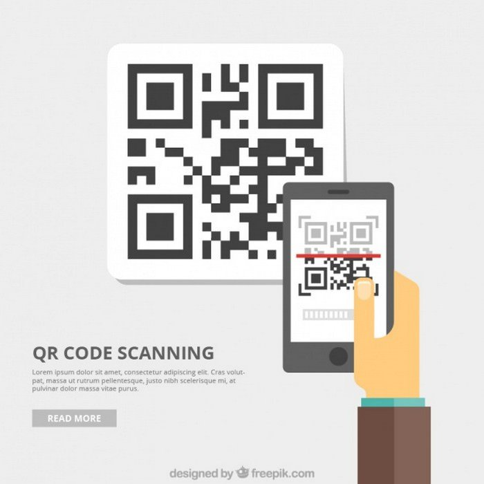 Qr Code Background - Vector