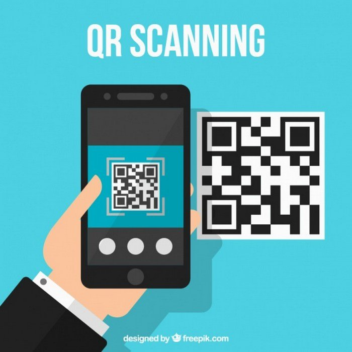 Qr Code Technological Background - Vector Free