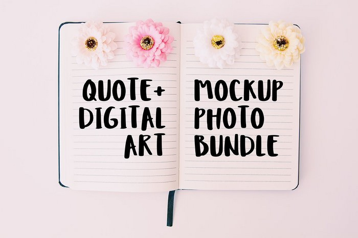 Quote Digital Art Mockup Bundle