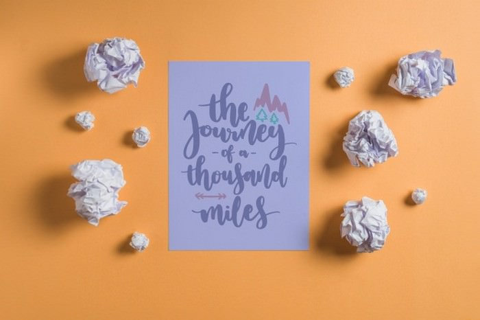 Quote Lettering Mockup