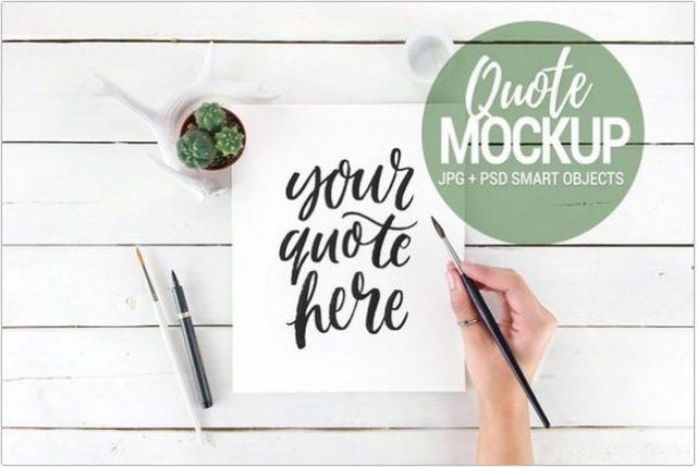 Quote Mockup Photos