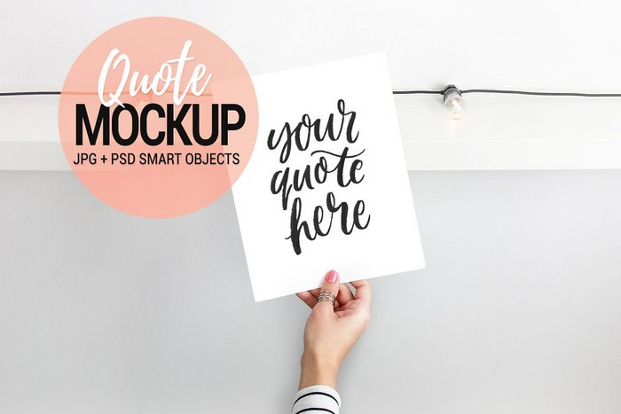 Quote Mockup Styled Stock Photo