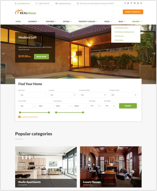 RealHouse Multipage HTML5 Website Template