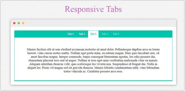 Responsive Tabs