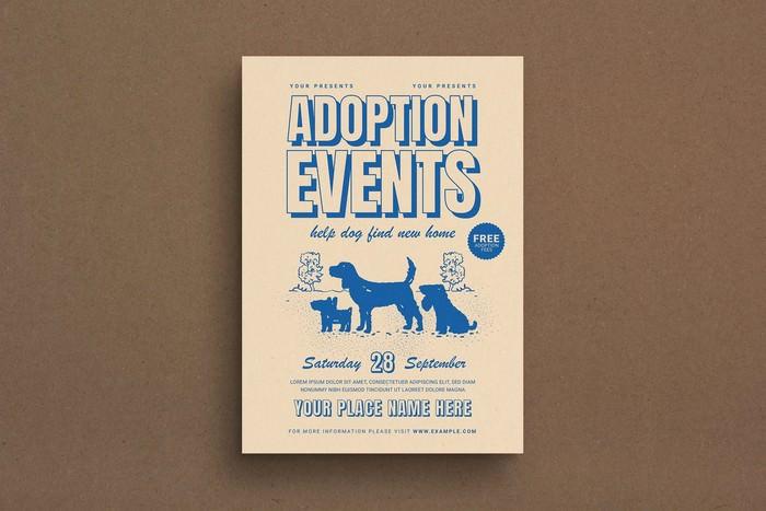 Dog Adoption Event Flyer