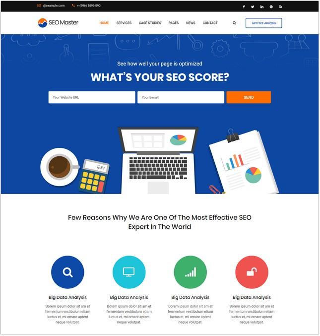 SEO Master Marketing Agency Website Template