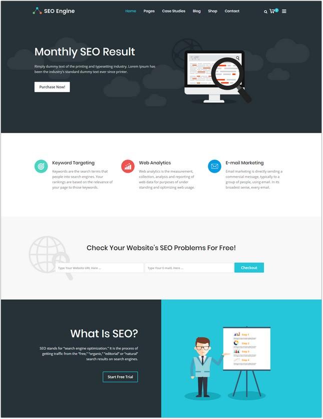 SEO, Digital Marketing Agency HTML Template