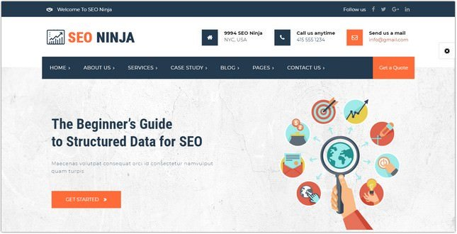 SEONinja Agency HTML Template