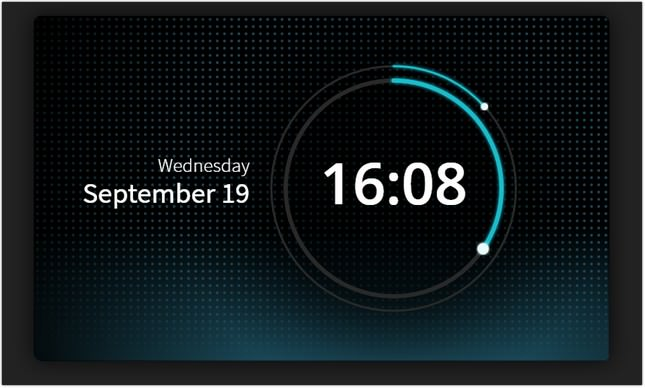 SVG clock UI css