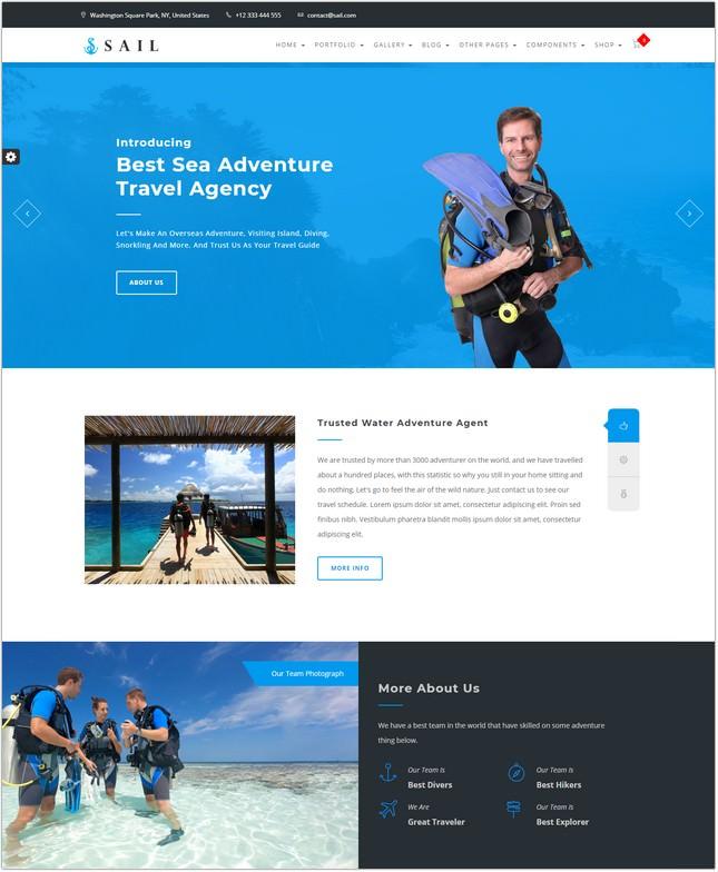 Sail Scuba Diving HTML Template