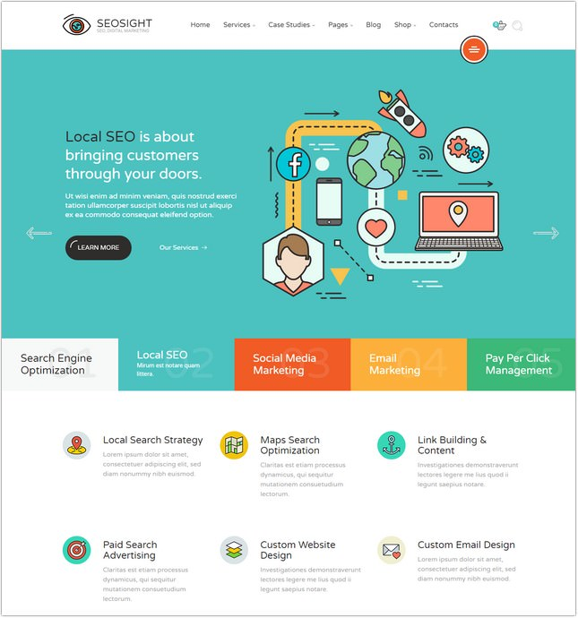 SEO, Agency HTML Template