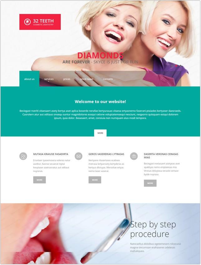 Dentistry Website Template