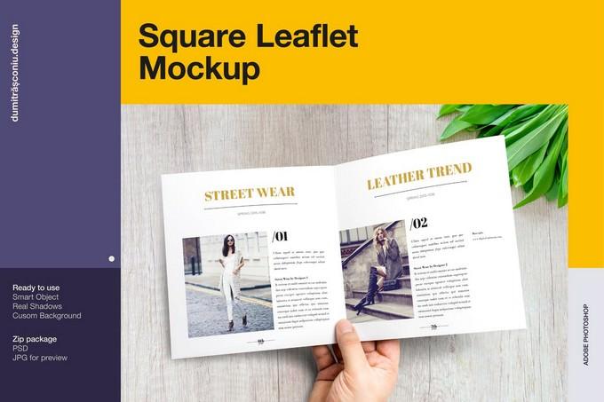 Square Leaflet PSD