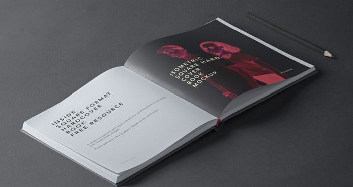 Square Psd Hardcover Book Mockup 2