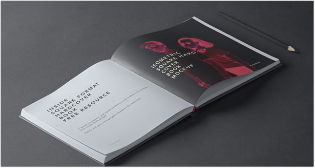 Square Hardcover Book Mockup PSD