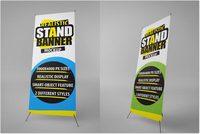 Stand Banner Mockup psd