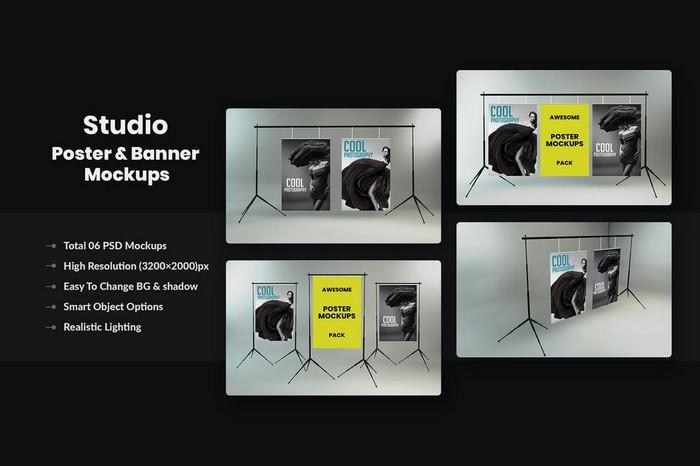 Studio Poster & Banner Mockups