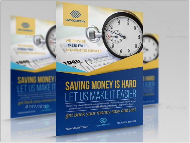 Tax and Accounting Flyer Template