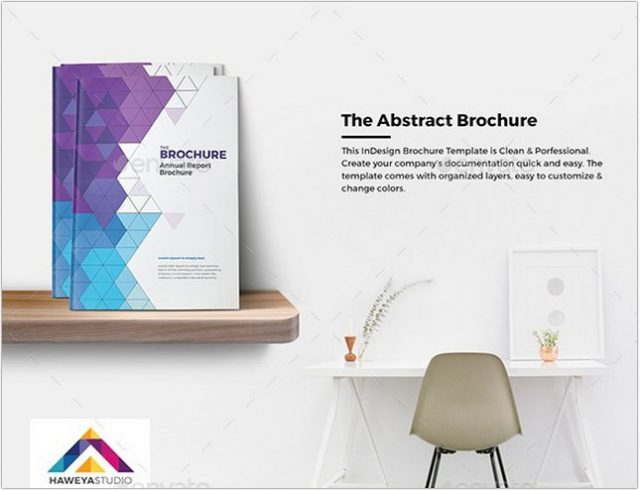 The Abstract Brochure template