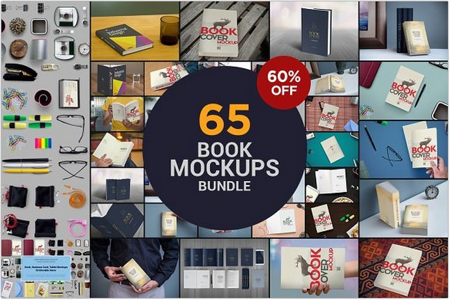 The Book Mockups Bundle PSD