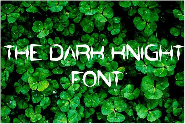 Font The Dark Knight