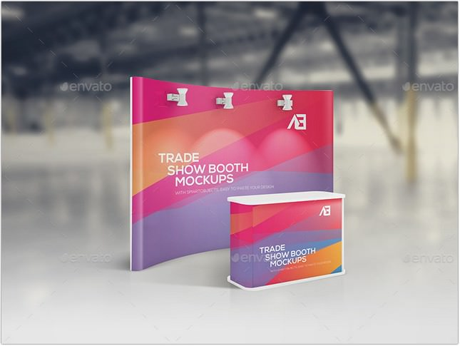 Trade Show Booth Mockups psd