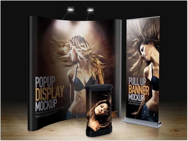 Trade Show Display Mockup psd