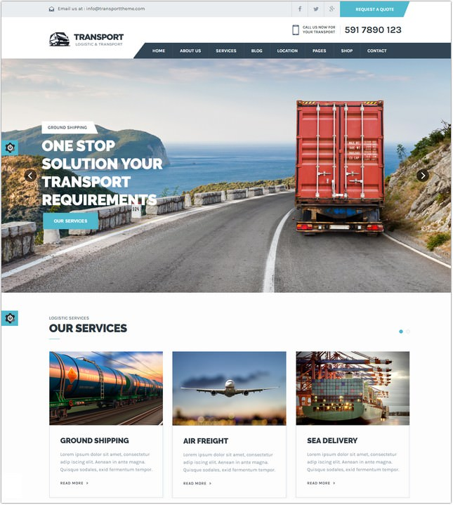 22 Best Logistics Website Templates Themes 2018 Templatefor