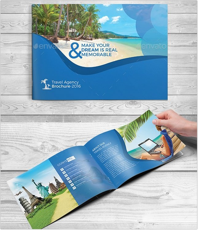 Travel Agency Leaflet Template Leafjdi