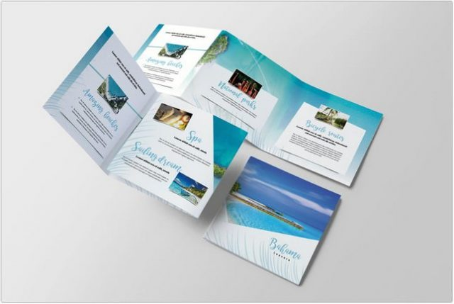 Travel Tropical Brochure template