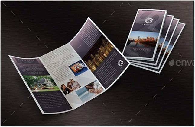 Tri-Fold A4 Leaflet Mock-Up