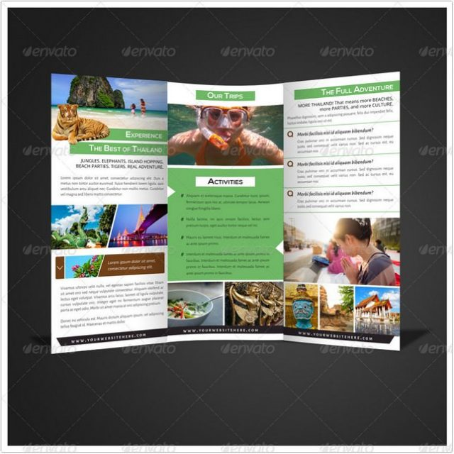 Tri-fold Travel Brochure template
