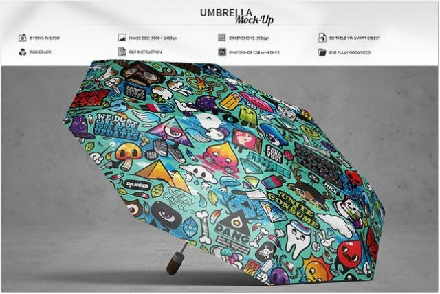 psd Umbrella Mock-Up