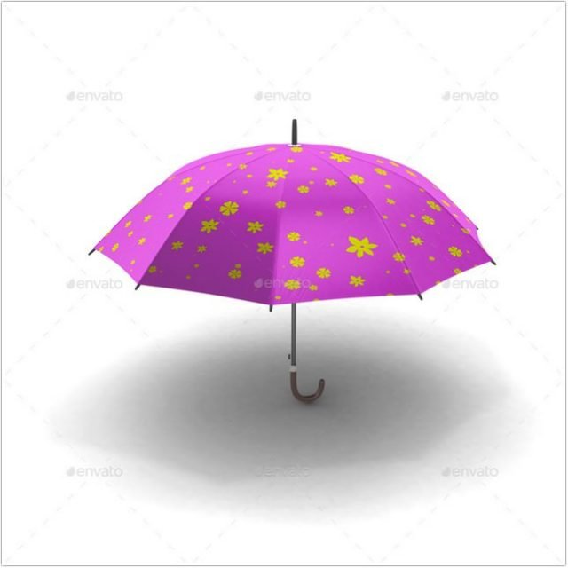Umbrella Mock-up template