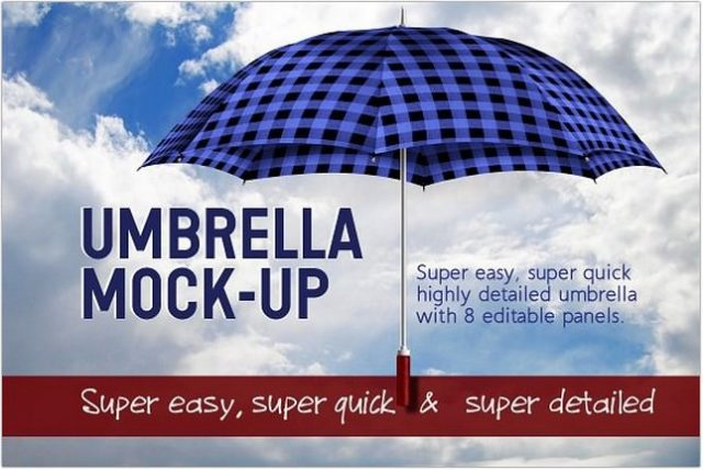 Umbrella for City mockup