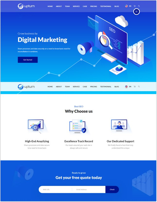 SEO And Digital Marketing Agency Html Template
