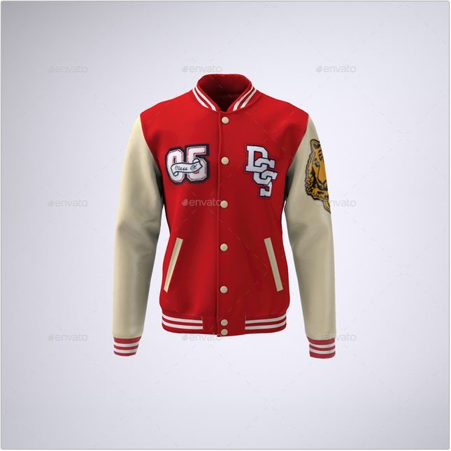 Baseball Bomber Jacket Mock-Up