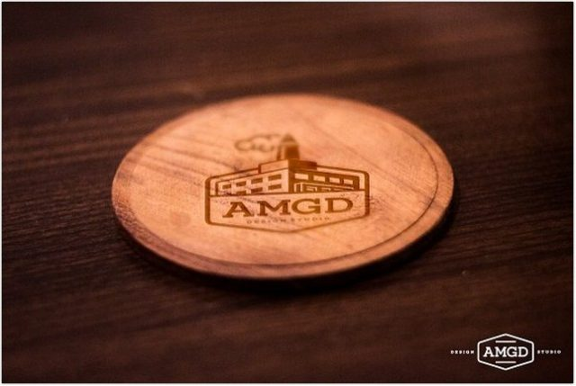 WOOD COASTER MOCK-UP