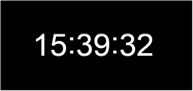 Wall clock html
