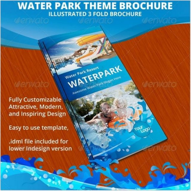 Water Park Theme Trifold