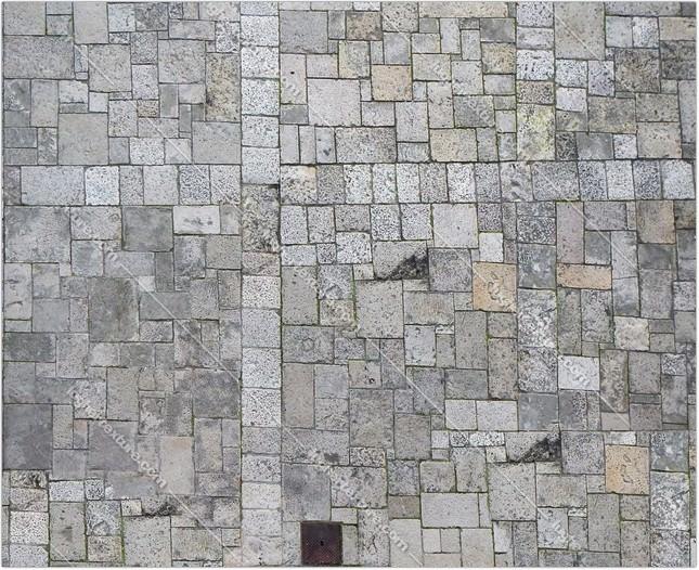 White Stone Blocks Floor