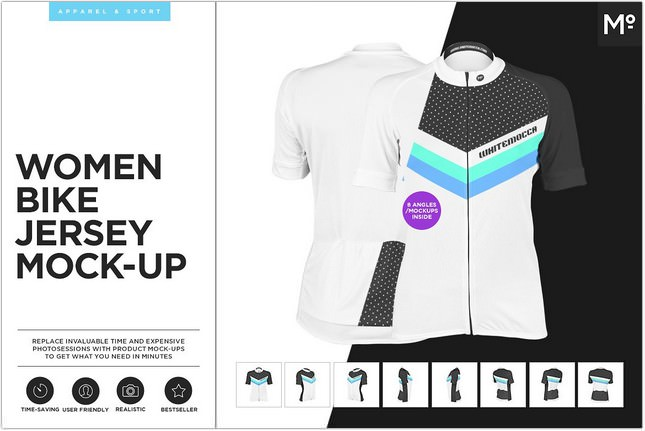 Women Bike Jersey Mockup