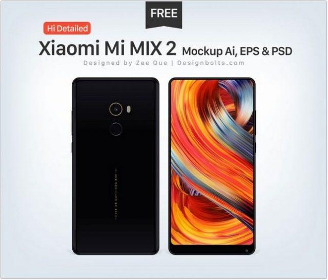 Xiaomi Mi MIX 2 Mockup Ai