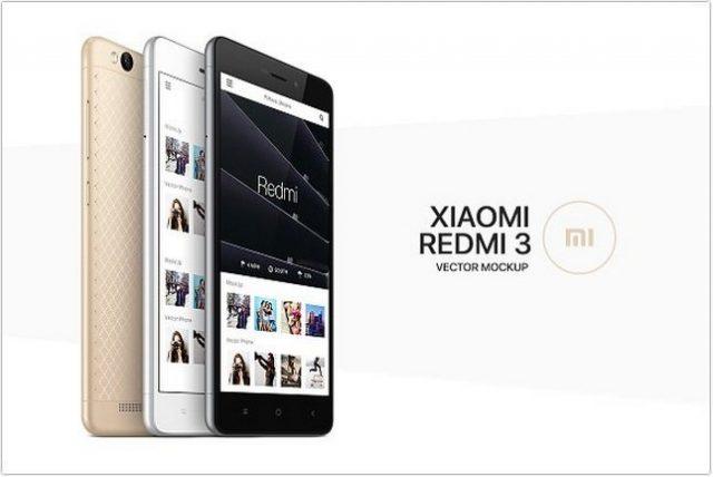 Xiaomi Redmi 3 MockUp psd