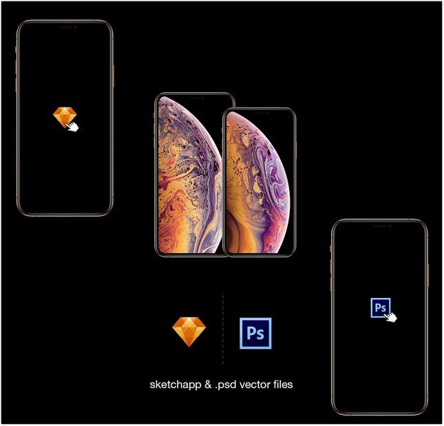 iPhone XS Mockup psd