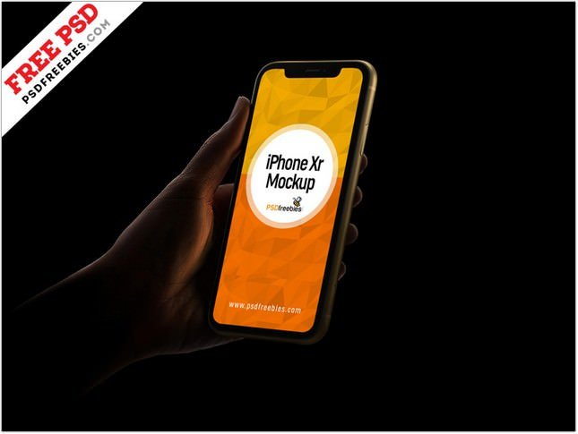 iPhone Xr Mockup template