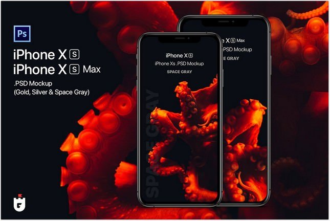 iPhone Xs PSD Mockup