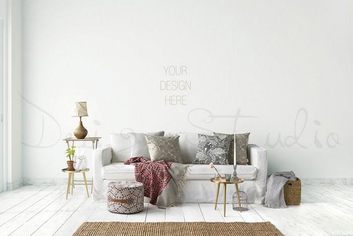 interior PSD, Living Room Photo