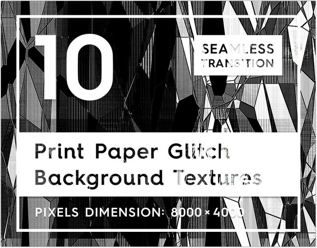 Print Paper Glitch Background Textures