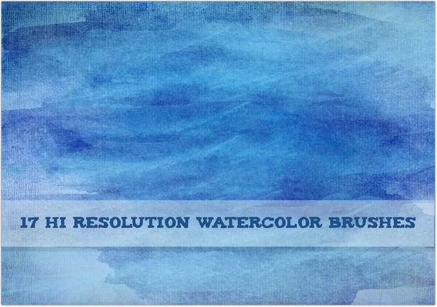 Creative High Resolution Watercolor Brushes